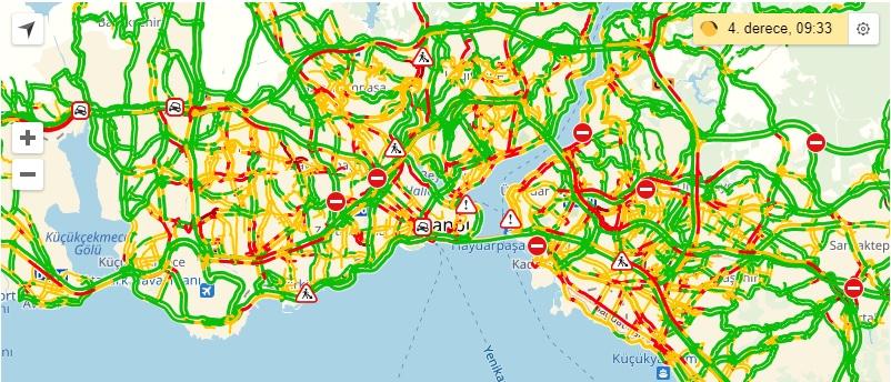 istanbul yol durumu