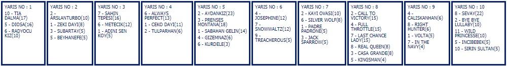 10 Kasım 2019 Pazar istanbul at yarışı tahminleri