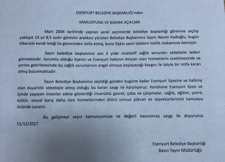 necmi kadıoğlu istifa