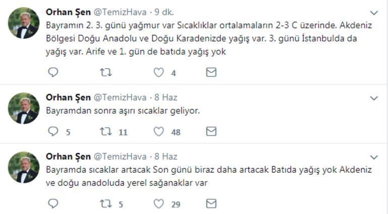 istanbul bayram yağmur