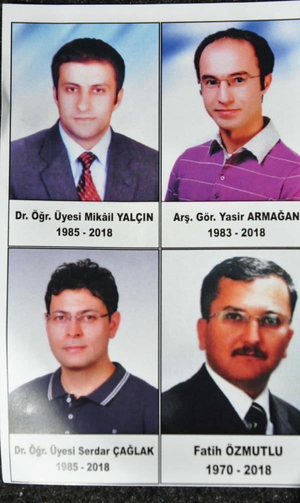 öldürülen akademisyenler
