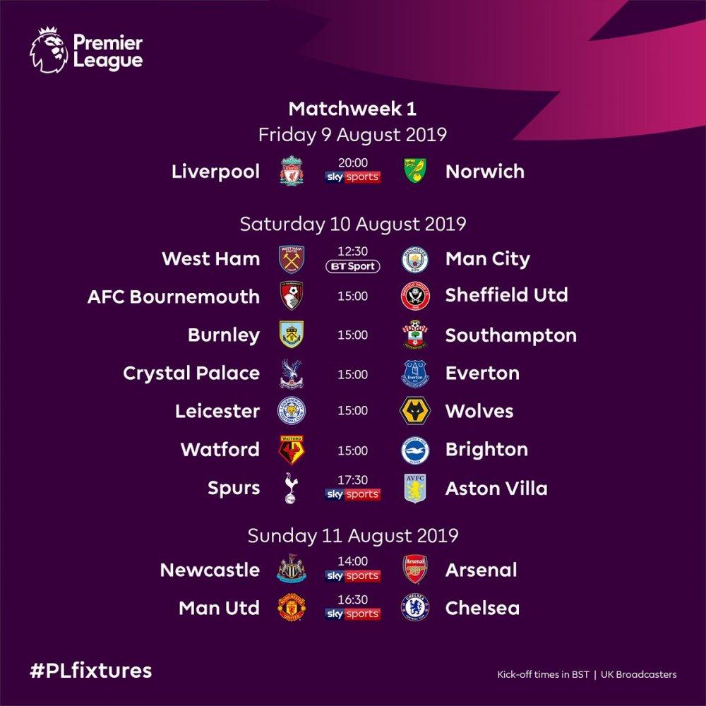 premier lig 2019-2020 sezonu fikstürü