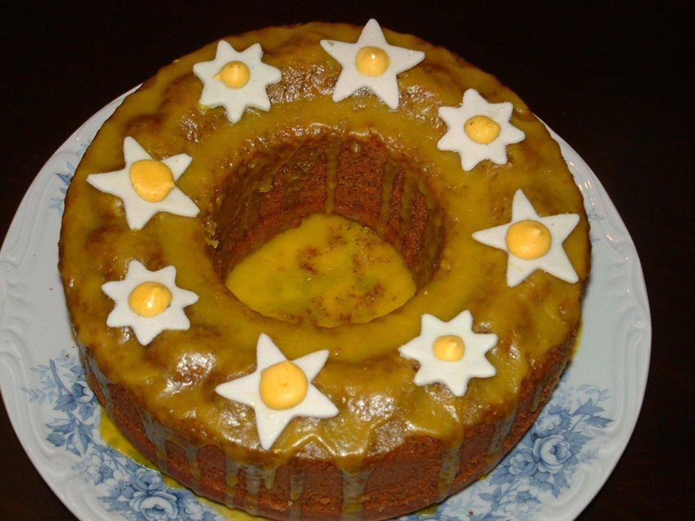 Glazürlü limonlu haşhaşlı kek