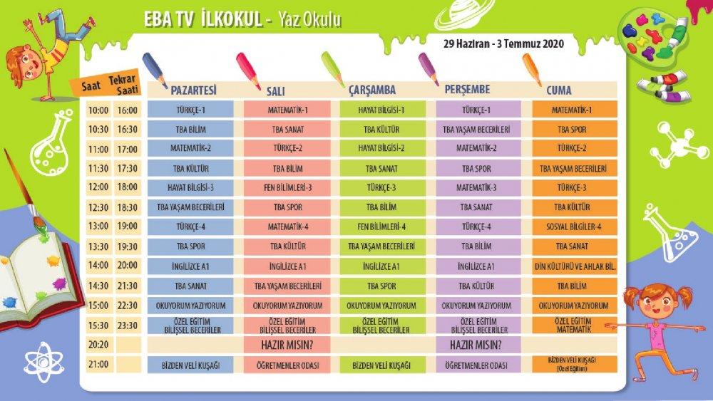 EBA TV 20 Temmuz Pazartesi lise ders programı