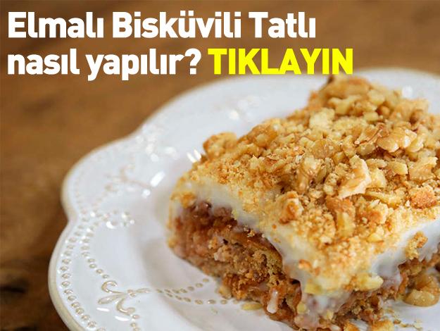 Elmalı Bisküvili Tatlı gelinim mutfakta