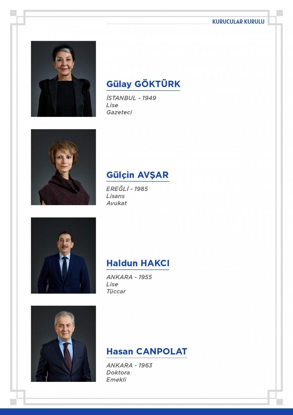 deva partisi kurucular listesi