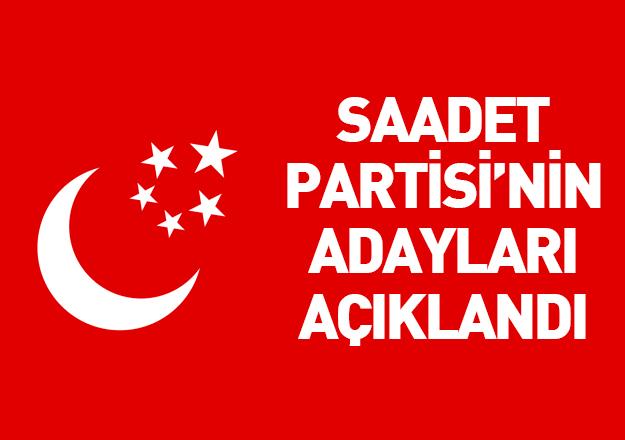 saadet partisi 24 haziran milletvekili adayları