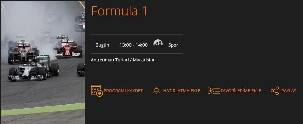 formula 1 macaristan antrenman turları