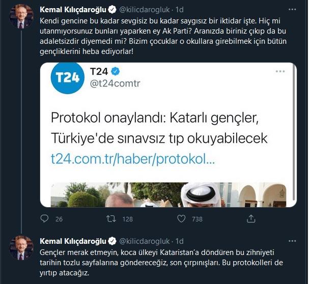kemal kılıçdaroğlu katar