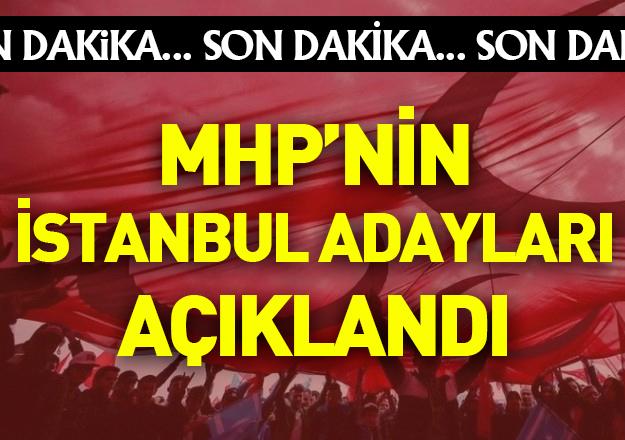 mhp 24 haziran seçimleri istanbul milletvekili adayları