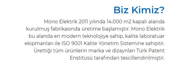 mono elektrik
