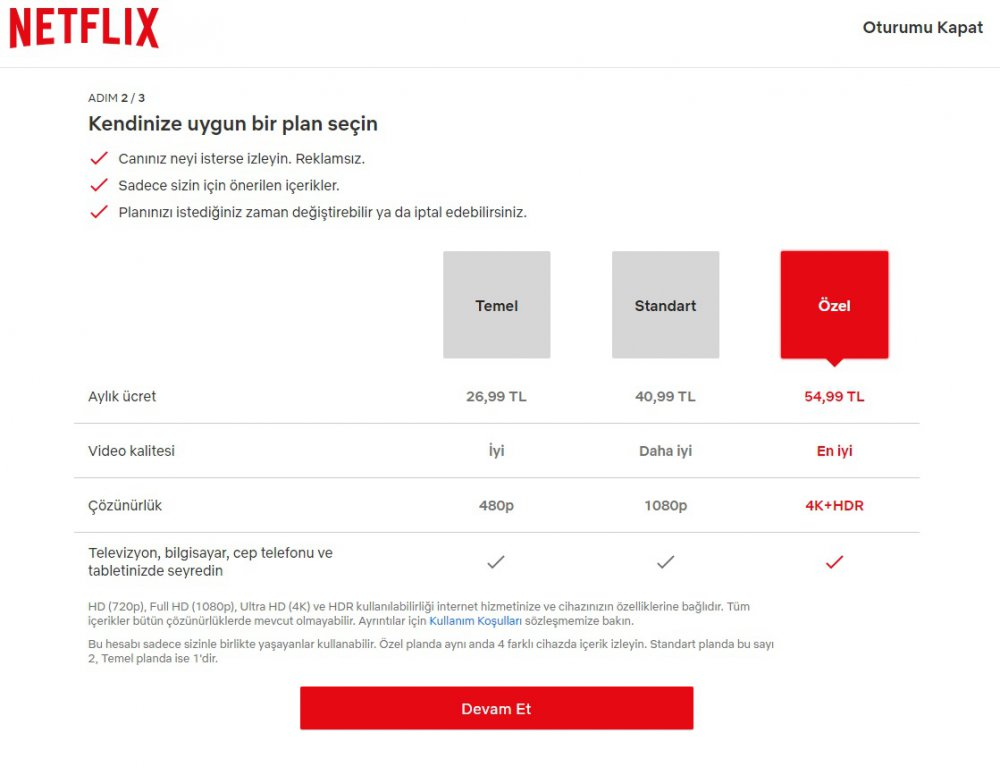 netflix üyelik paketleri ve ücretleri