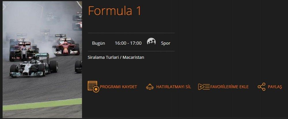 formula 1 macaristan sıralama turları