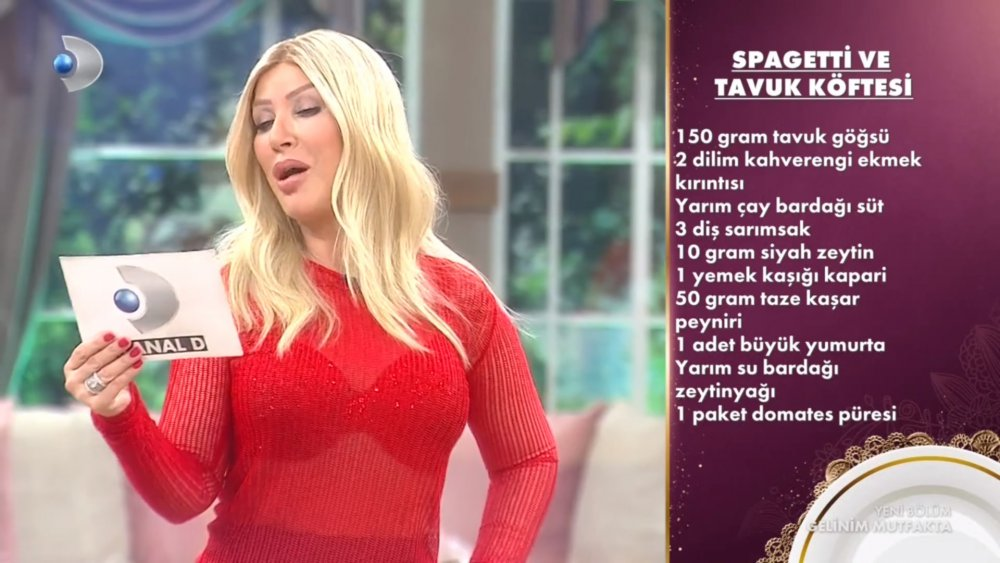 Spagetti ve tavuk köftesi
