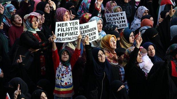 İstanbul ve Batman'da İsrail protestosu
