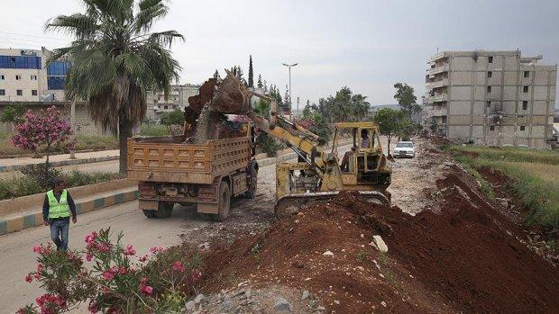 Afrin teröristlerin hedefinden temizleniyor