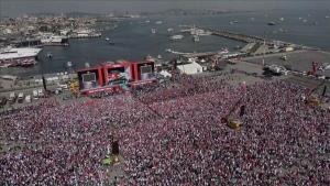 'Zulme Lanet Kudüs'e Destek' mitingine 500 bin kişi katıldı