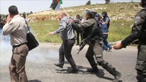 İsrail askerleri 'Filistin Esirler Günü' gösterilerine müdahale etti