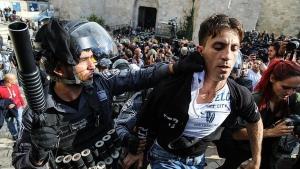 Kudüs'te protesto gösterisine İsrail polisinden müdahale