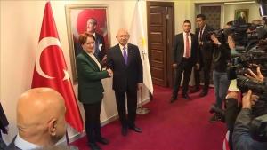 CHP Genel Başkanı Kılıçdaroğlu Akşener ile görüştü