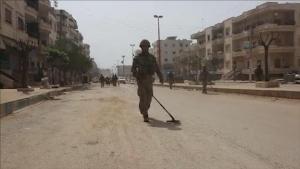 Mehmetçik'ten Afrin'de mayın temizleme çalışmaları