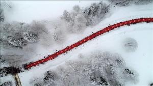 Trabzon'da Sarıkamış Harekatı yürüyüşü