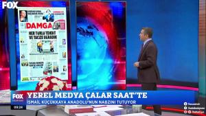 Çalar Saat - Gazete Damga'nın manşeti Türkiye ile paylaşıldı